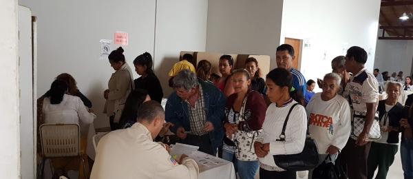 Hoy domingo 17 de junio culmina la  jornada electoral presidencial de segunda vuelta en el Consulado de Colombia en San Cristóbal